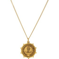 Saint Laurent - Anchor-medallion Necklace - Womens - Gold found on Bargain Bro UK from Matches UK