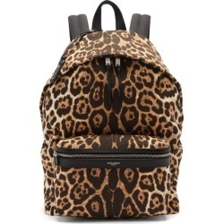 Saint Laurent - City Leopard-print Canvas Backpack - Mens - Multi found on Bargain Bro UK from Matches UK