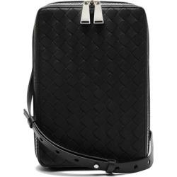 Bottega Veneta - Intrecciato Leather Cross-body Bag - Mens - Black found on Bargain Bro UK from Matches UK
