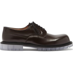 Bottega Veneta - Transparent-sole Leather Derby Shoes - Mens - Brown found on Bargain Bro UK from Matches UK