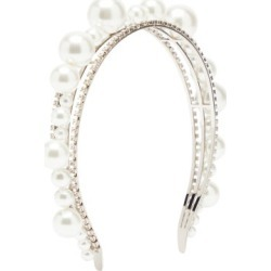 Givenchy - Ariana Embellished Brass Headband - Womens - Pearl found on Bargain Bro Philippines from MATCHESFASHION.COM - AU for $694.75