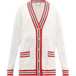 Gucci - GG Logo-jacquard Wool-blend Cardigan - Womens - Ivory Multi found on Bargain Bro Philippines from Matches Global for $2200.00