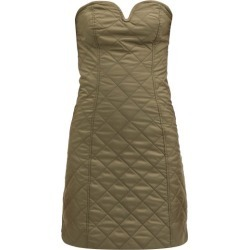 Ganni - Strapless Quilted Recycled-ripstop Mini Dress - Womens - Khaki found on MODAPINS from Matches Global for USD $285.00