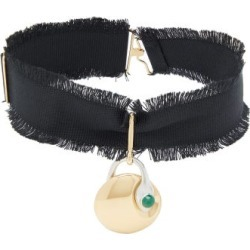 Chloé - Callie Pendant Choker Necklace - Womens - Black found on Bargain Bro from Matches UK for £287
