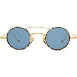 Jacques Marie Mage - Ringo Round Metal Sunglasses - Mens - Gold found on MODAPINS from Matches UK for USD $1096.07