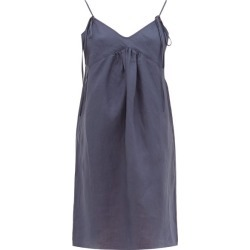 Rossell England - Tie-strap Linen Nightdress - Womens - Navy found on Bargain Bro India from Matches Global for $180.00