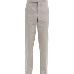 Haider Ackermann - Slim-leg Cotton-blend Rep Suit Trousers - Mens - Grey found on MODAPINS from MATCHESFASHION.COM - AU for USD $1199.92