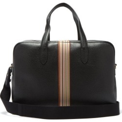 Paul Smith - Signature Stripe Pebbled Leather Weekend Bag - Mens - Black found on Bargain Bro UK from Matches UK