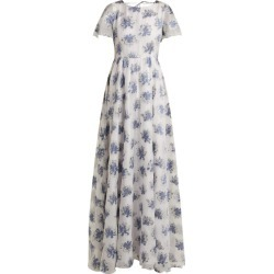 Athena Procopiou - In The Hills Floral-jacquard Dress - Womens - White Multi found on MODAPINS from MATCHESFASHION.COM - AU for USD $306.91