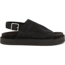 Jil Sander - Slingback Suede Sandals - Mens - Black found on Bargain Bro UK from Matches UK