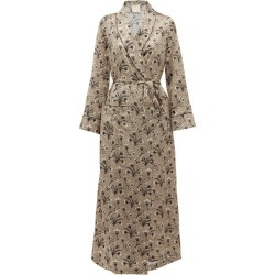 Morpho + Luna - X Kinloch Milano Bianca Floral-print Silk Robe - Womens - Beige Multi found on Bargain Bro India from Matches Global for $668.00