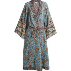 Anjuna - Kandela Paisley Print Silk Robe - Womens - Blue Multi found on MODAPINS from Matches UK for USD $586.90