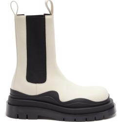 Bottega Veneta - Tire Waved-sole Leather Boots - Mens - White Black found on Bargain Bro UK from Matches UK