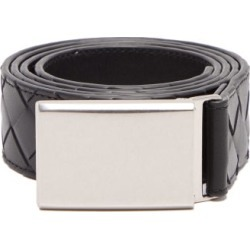 Bottega Veneta - Intrecciato-leather Belt - Mens - Black found on Bargain Bro UK from Matches UK