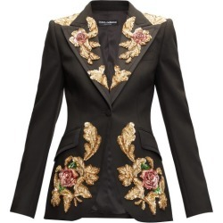 Dolce & Gabbana - Sequinned Single-breasted Wool-blend Suit Jacket - Womens - Black Multi found on Bargain Bro UK from Matches UK