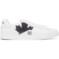 Dsquared2 - Logo-print Leather Trainers - Mens - White Black found on Bargain Bro UK from Matches UK