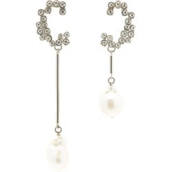 Chloé - Crystal And Baroque-pearl C Earrings - Womens - Crystal found on Bargain Bro UK from Matches UK