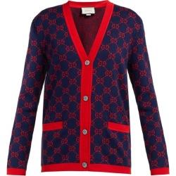 Gucci - Cardigan en coton et jacquard GG