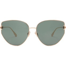 Dior Eyewear - Diorgypsy1 Cat-eye Metal Sunglasses - Womens - Green found on Bargain Bro UK from Matches UK