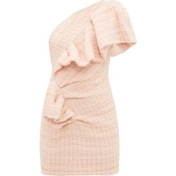 Alexandre Vauthier - One-shoulder Wool-blend Tweed Mini Dress - Womens - Light Pink found on Bargain Bro UK from Matches UK