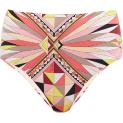 Emilio Pucci - Bes-print High-rise Bikini Briefs - Womens - Pink Print found on MODAPINS from Matches UK for USD $185.86