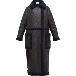 Stand Studio - Adrianna Faux-suede And Shearling Coat - Womens - Black Navy found on Bargain Bro Philippines from MATCHESFASHION.COM - AU for $323.23