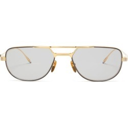 Jacques Marie Mage - Roy Aviator Titanium Sunglasses - Mens - Gold found on MODAPINS from Matches UK for USD $1025.97