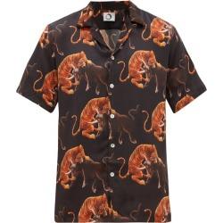 Endless Joy - Macan Printed Silk-satin Short-sleeve Shirt - Mens - Black Multi found on Bargain Bro India from MATCHESFASHION.COM - AU for $204.52