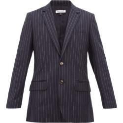 Bella Freud - Allen Chalk-striped Single-breasted Wool Blazer - Womens - Navy Stripe found on MODAPINS from MATCHESFASHION.COM - AU for USD $361.77