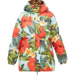 0 Moncler Genius Richard Quinn - Mary Tropical-print Down Jacket - Womens - Blue Multi found on Bargain Bro India from Matches Global for $2165.00