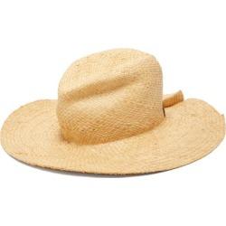 Lola Hats - Commando Pleated Raffia Hat - Womens - Beige