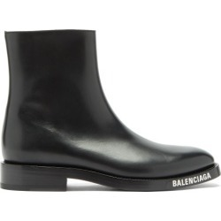 Balenciaga - Sole-logo Leather Boots - Mens - Black found on Bargain Bro UK from Matches UK