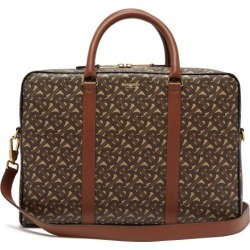 Burberry - Ainsworth Tb-monogram Coated-canvas Briefcase - Mens - Brown found on Bargain Bro from Matches UK for £996
