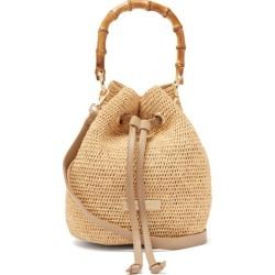 Heidi Klein - Savannah Bay Mini Bamboo Handle Raffia Bag - Womens - Beige