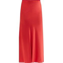 Maison Margiela - Four-stitches Raw-hem Satin Midi Skirt - Womens - Red found on Bargain Bro UK from Matches UK