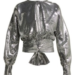 MSGM - Open-back Sequin Blouse - Womens - Silver found on Bargain Bro UK from Matches UK