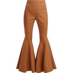 Ellery - Jacuzzi Checked Trousers - Womens - Brown Multi found on MODAPINS from MATCHESFASHION.COM - AU for USD $211.23