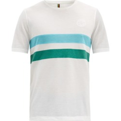 Iffley Road - Cambrian Striped Technical-piqué T-shirt - Mens - White Multi found on Bargain Bro Philippines from Matches Global for $74.00