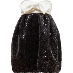 Alexandre Vauthier - Bow-embellished Sequinned Dress - Womens - Black White found on Bargain Bro UK from Matches UK