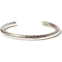 Saint Laurent - Logo-engraved Snake-effect Bracelet - Mens - Silver found on Bargain Bro UK from Matches UK