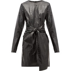 MSGM - Crocodile-effect Faux Leather Mini Dress - Womens - Black found on Bargain Bro UK from Matches UK