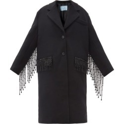 Prada - Manteau en laine à franges et ornements cristaux found on Bargain Bro India from matchesfashion.com fr for $7150.00