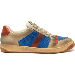 Gucci - Baskets basses en cuir effet vieilli Virtus found on Bargain Bro Philippines from matchesfashion.com fr for $897.00