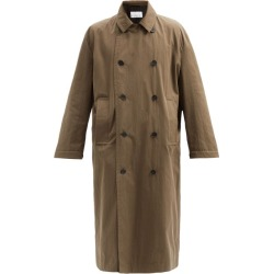 Raey - Double-breasted Cotton-blend Coat - Mens - Brown