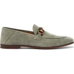 Gucci - Brixton Horsebit Suede Loafers - Mens - Grey found on Bargain Bro UK from Matches UK