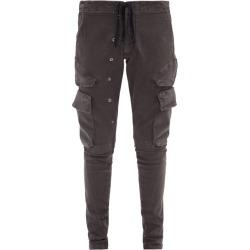 Greg Lauren - Drawstring-waist Cotton-blend Denim Cargo Trousers - Mens - Black found on MODAPINS from Matches Global for USD $975.00