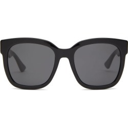 Gucci - GG Square Acetate Sunglasses - Womens - Black found on Bargain Bro India from Matches Global for $245.00