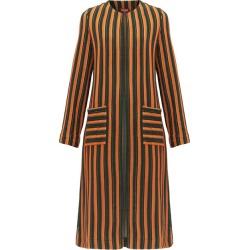 Staud - Mia Striped-terry Coat - Womens - Green Multi