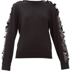 Bella Freud - Lady Day Sequinned Wool Sweater - Womens - Black found on MODAPINS from Matches Global for USD $204.00