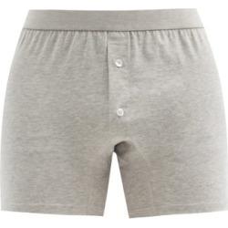 Comme Des Garçons Shirt - Cotton-jersey Boxer Briefs - Mens - Grey found on MODAPINS from MATCHESFASHION.COM - AU for USD $35.27